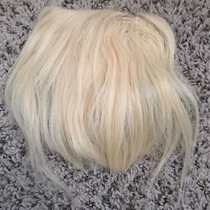 Human Hair Blonde Bangs Fringe Clip In Extensions